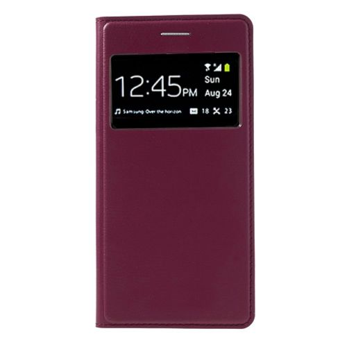 Pink for Samsung Galaxy Grand 2 Duos G7102 Window View Smart PU Leather Flip Battery Door Cover